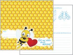 Albinuța - felicitare colorată