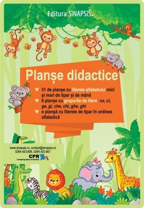 Planșe didactice - Literele alfabetului, grupurile de sunete