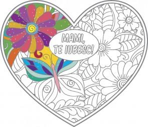 Mami, te iubesc! - poster de colorat