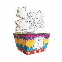 Flori în dar - cutie pentru cadou