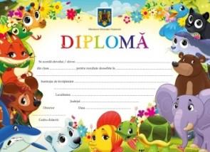Diplomă clasa pregătitoare - Animalute