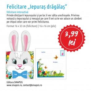 Felicitare Iepuraș Drăgălaș