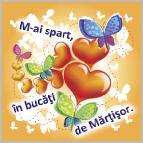 Felicitare PUZZLE mărțișor - Inimioară