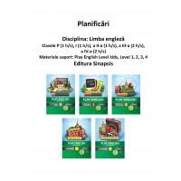 Planificări limba engleză - Play English Level kids, 1, 2, 3, 4